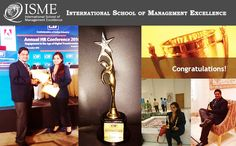 ISME HR Students bagged the second position at the Confederation of Indian industries for the best project 2016. We are proud of Sushovit and Sonal Sharma. www.isme.in #ISMEAcademicExcellence