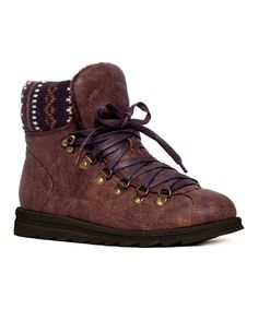 Look at this Dark Brown Liz Hiker Boot on #zulily today!