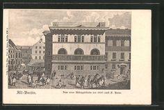 Alte Ansichtskarte: AK Alt-Berlin, Das neue Münzgebäude um 1800 nach P. Haas