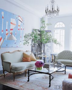 Like this use of Oriental rug...