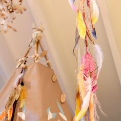 Hand-crafted and hand-painted watercolour feather and arrow teepee tassels by ELK Prints.