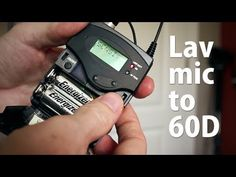 ▶ Getting Quality Audio with a Wireless Lavaliere Microphone Plugged Directly into a Canon 60D - YouTube