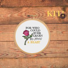 Beauty and the Beast Cross-Stitch Kit