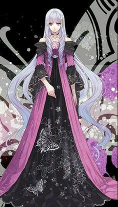 Reine des Fleurs - a change of roles in the magical royal Anime Girl Dress, Manga Girl, Anime Art Girl, Chica Anime Manga, Kawaii Anime, Anime Guys, Pretty Anime Girl, Beautiful Anime Girl, 3d Fantasy