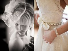 There is something very vintage gorgeous about this sash.  Loving the look of the pearl-type jewels...probably would do the bow differently?  Vintage Romance Styled Bridal Shoot