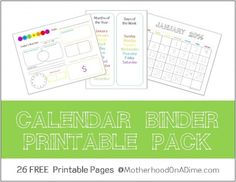 **Update: Several years ago I shared these free calendar binder printables, and I have had tons of requests to update them for this year! I have now uploaded the 2016 – 2017 FREE Calendar Binder Printables in coloror the2016-2017 Calendar Binder in B&W. You can find the directions for using them in the post below! …