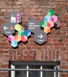 Colorful (and informative) wayfinding