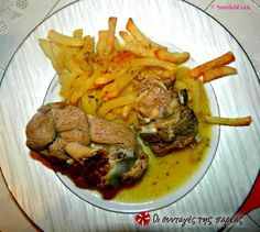 Αρνάκι λαδορίγανη #sintagespareas Greek Recipes, My Recipes, Cooking Recipes, Recipe Collection, Cooking Time, Lamb, Good Food, Pork, Tasty