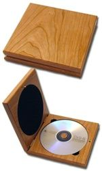 wooden cd case. and you can engrave it