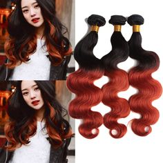 50g/Bundle Ombre Body Wave 1b/350# Human Hair Extensions Grade 7A Remy Wefts #WIGISS #HairExtension