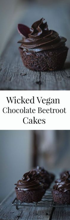 On the days you just need cake, these wicked vegan chocolate beetroot cakes with chocolate avocado frosting are a sweet and rich treat minus the guilt. (GF)