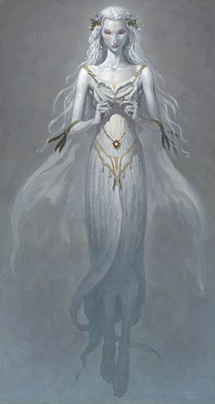 """The Lady of the Lake from """"The Child Theif"""" by Brom"""
