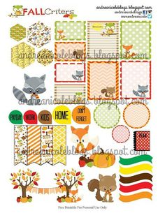 Andrea Nicole Blogs Free Fall Critter Planner Printable