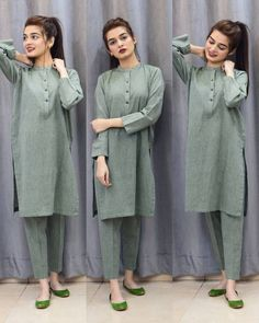 Girls Dresses Sewing, Stylish Dresses For Girls, Stylish Dress Designs, Simple Dresses, Casual Dresses, Beautiful Pakistani Dresses, Pakistani Dresses Casual, Pakistani Dress Design, Girls Fashion Clothes