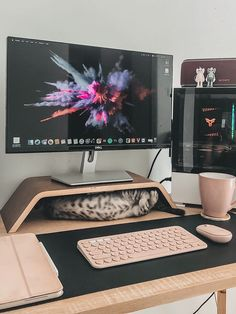 Pc Gaming Setup, Pc Setup, Desk Setup, Room Setup, Dream Desk, Study Room Decor, Study Desk Organization, School Organization, Organization Ideas