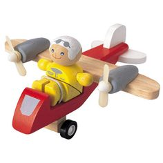 Plan Toys creates innovative educational toys for every developmental stage of childhood. Find a large selection of Plan Toys at Oompa Toys. Learn Woodworking, Woodworking Skills, Teds Woodworking, Woodworking Projects, Baby Toys, Kids Toys, Wooden Airplane, Toddler Boy Gifts, Plan Toys