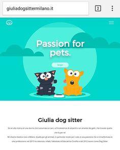"""""""Mi piace"""": 24, commenti: 2 - gosmartpress.com (@gosmartpress) su Instagram: """"giuliadogsittermilano.it Passion for pets con @giulia_gi_dogsittermilano #Wordpress  #milano #html5…"""""""