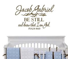 Christian Wall Decals  Baby Nursery Name  by openheartcreations, $45.00