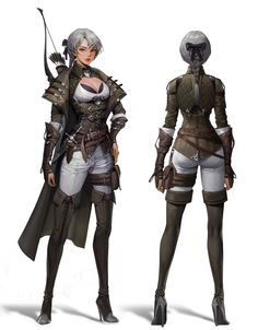 ArtStation - Archer, geumsil lee Game Character, Character Concept, Concept Art, Character Design, Fantasy World, Dark Fantasy, Pencil Art Drawings, Fantasy Artwork, Character Illustration