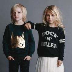 """We're hanging in the studio with friends today. Matty and Bett in new Rock Your Kid Winter"
