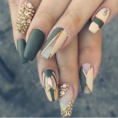 Olive nails be-jewel.com. These are just so perfect.