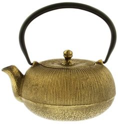 Kotobuki Japanese Iron Teapot Black and Gold 1000 Lines ** Check out the image by visiting the link.(It is Amazon affiliate link) #HaveTea