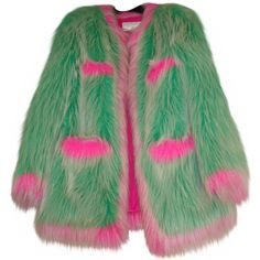 Collection featuring River Island Coats, Sandy Liang Coats, and 176 other items Kpop Fashion Outfits, Sexy Outfits, Cool Outfits, Cool Coats, Chanel Jacket, Fresh Outfits, Coral, Character Outfits, Faux Fur Jacket