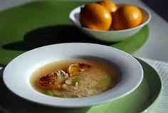 Recipe: Chicken soup with rice and roasted lemons