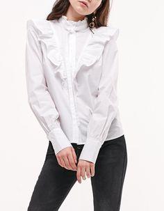 Camisa popelin cuello perkins