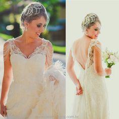 Noiva Bárbara Ribeiro - Vestido Carol Hungria