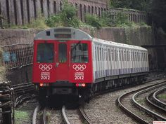 London Underground Olympic D Stock 7007 and 7068 at West Brompton