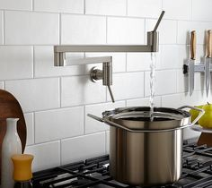 Contemporary Pot Filler Strikes a Chord Between Beauty and Function.