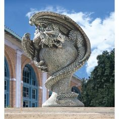 Medieval Menacing Mystic Dragon Statue Gothic Home Yard Garden Products | eBay
