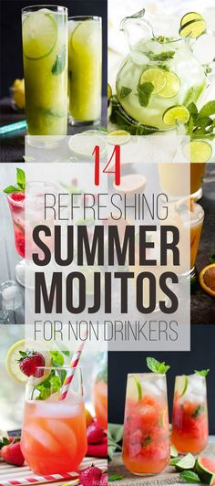 14 non alcoholic mojito recipes to try this summer.