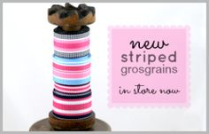 new multi-coloured striped grosgrains : Ribbons Galore, your online store for the best ribbons #ribbons #ribbonsgalore #stripedgrosgrain
