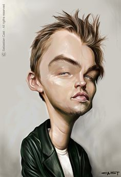 Caricature of Leonardo DiCaprio. Funny Caricatures, Celebrity Caricatures, Cartoon Faces, Funny Faces, Cartoon People, Sketch Manga, Cinema Tv, Caricature Drawing, Leonardo Dicaprio