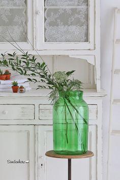 Vintage Vasen - Vintage Glasbehälter, Bodenvase - ein Designerstück von bleuetrose bei DaWanda