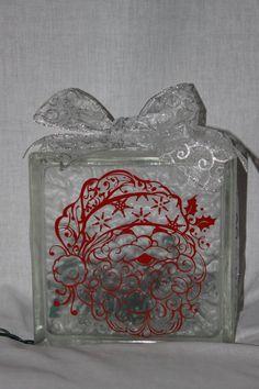 Christmas Santa or Nativity Lighted Glass Block by WorldofAKD, $22.00