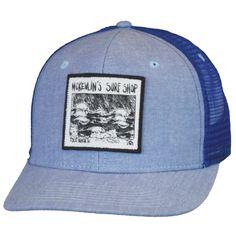 McKevlin's - Kemp Wave Trucker Hat - Royal Oxford/Royal