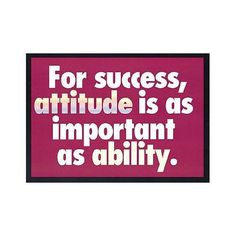 For success, attitude is... Trend,http://www.amazon.com/dp/B000F8MG7M/ref=cm_sw_r_pi_dp_7kVutb12ER9WJXS6