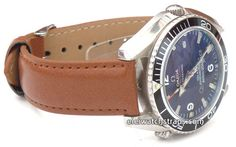 Brown Leather Watch strap For Omega Seamaster professional Watches