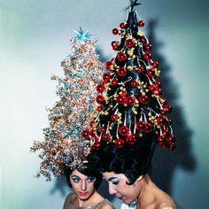 """vogueparis:  Vogue Paris Advent Calendar Day 18 with @MichelGaubert for @Vogue Paris """"Des sapins sur ma tête"""""""