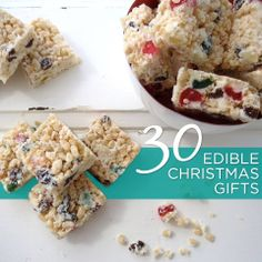 Spoil your family and friends with something homemade: 30 edible Christmas gifts. Edible Christmas Gifts, Edible Gifts, Christmas Goodies, Christmas Recipes, Christmas Time, Christmas Ideas, Xmas, Spoil Yourself, Christmas Cooking