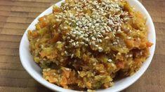 Karotten-Sesam Aufstrich mit Früchten - Rezept von Joes Cucina Verde Chili, Grains, Rice, Food, Vegane Rezepte, Cooking, Chile, Essen, Meals