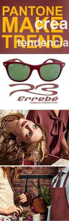 Trend Errebé PANTONE nos ofrece para este #2015  un #color #Elegante, #fuerte #impactante  #Errebé te ofrece unas #gafas de #sol #perfectas para ir a tono con las ultimas tendencias   #eyewaer #sunglasses #fashion #gafasdesol  http://goo.gl/kcXlwS