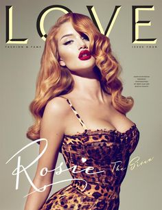 LOOOVEEE.She looks like Jessica Rabbit. Love Magazine - Love Magazine F/W 10 Covers