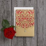 Gorgeous gold laser cut diamante and red wedding invitations / invites by HipHip… – The Best Ideas Red Wedding Invitations, Personalised Wedding Invitations, Wedding Themes, Wedding Stationery, Invites, Invitation Ideas, Muslim Wedding Cards, Arabic Wedding Dresses, Wedding Wear