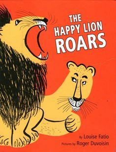 Roger Duvoisin (1900 – 1980) - Swiss-born American writer and illustrator. illustration, drawing, art, design, modern, mid-century, retro, vintage, children, picture, book, lion
