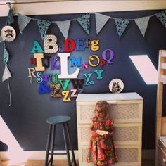 Wooden Alphabet letter Set - perfect for any baby's nursery. All our wooden alphabets are hand painted to your specifications & we can colour match. Order here: www.moomoo-memories.co.uk