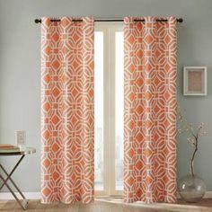 orange curtains - Google Search